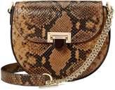 ASPINAL OF LONDON Portobello Chain Strap Bag -Mustard Snakeskin