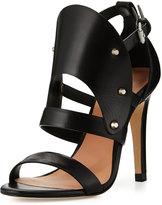L.A.M.B. Gareth Cutout Studded Leather Sandal, Black