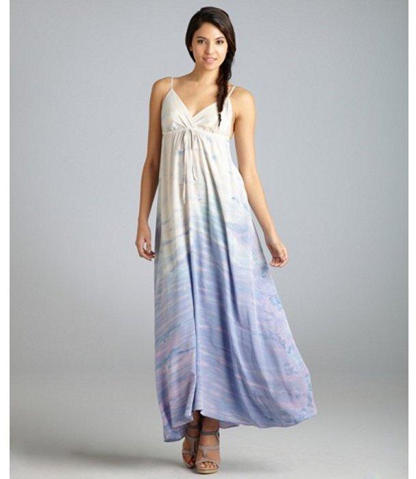 Gypsy 05 purple marbled silk 'Taylor' maxi dress