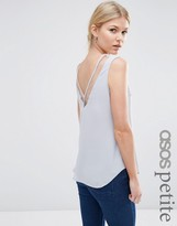 Asos V Front And V Back Tank With Mesh Insert
