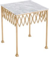 Safavieh Natalia White Marble End Table in Gold Leaf