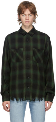 Amiri Green Core Shadow Plaid Shirt