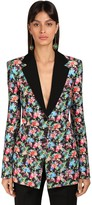 Paco Rabanne Floral Print Cotton & Viscose Jacket