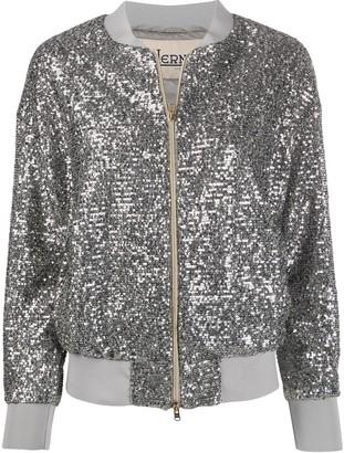 Herno sequined zip-up bomber jacket