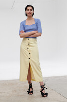 Thumbnail for your product : Ganni Summer Suiting High-Waisted Asymmetrical Midi Skirt