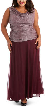R & M Richards Plus Size Ruched Gown