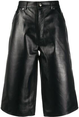 Manokhi Leather Knee-Length Shorts