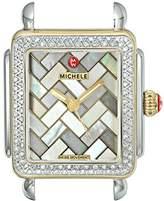 Michele Women's MW06V01C5071 Deco 16 Diamond Analog Display Swiss Quartz Two Tone Watch Head