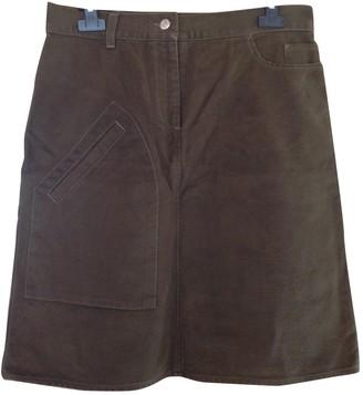 Jean Paul Gaultier Khaki Cotton Skirts