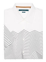 Perry Ellis Short Sleeve Wavy Stripe Shirt