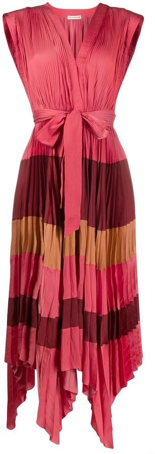 Ulla Johnson Pleated Stripe Dress