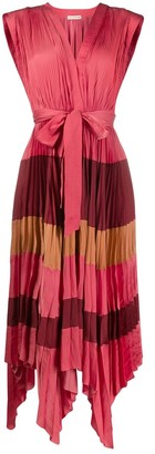 Ulla Johnson Pleated Stripe Dress