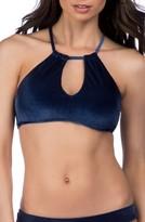 Trina Turk Women's Velveteen Underground Halter Bikini Top