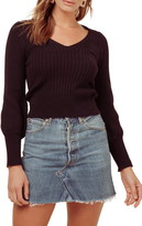ASTR the Label Mila Ribbed Crop Sweater