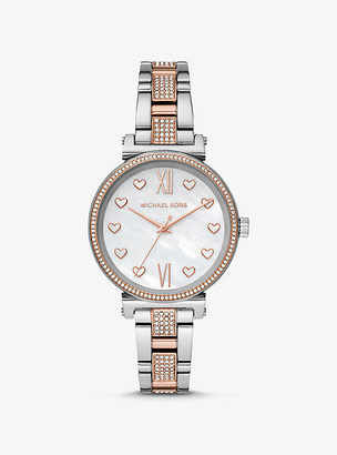 Michael Kors Sofie Pave Two-Tone Watch