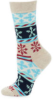 Happy Socks Snow Striped Crew Socks