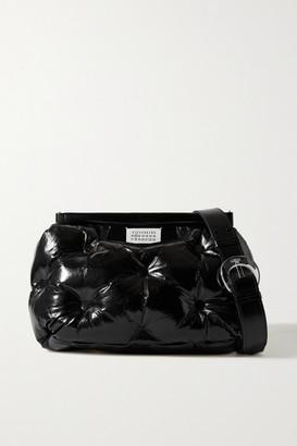Maison Margiela Pillow Quilted Crinkled Glossed-leather Shoulder Bag - Black