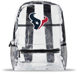 clear Houston Texans Team Logo School Bag