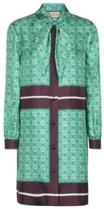 Gucci GG Printed Silk Twill Mini Dress