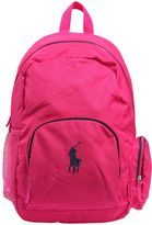 Ralph Lauren Embroidered Logo Cotton Canvas Backpack