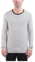 ATM Anthony Thomas Melillo Men's Long Sleeve Striped Viscose Tee