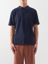 Sunspel Riviera Cotton-terry Polo Shirt - Mens - Navy
