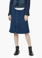Mango Outlet Buttoned Denim Skirt