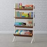 Danish Modern Walnut & White Tall Bookcase