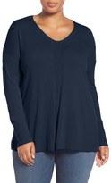 Sejour Plus Size Women's V-Neck Sweater