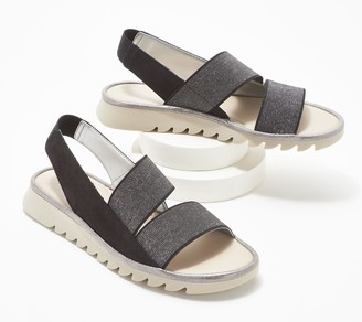 The Flexx Leather Stretch Back-Strap Sandals - New Wave