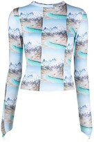 Thumbnail for your product : MAISIE WILEN Mountain Print Top