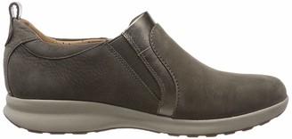 Clarks Women's Un Adorn Zip Loafers Grey (Taupe Combi 5.5 UK