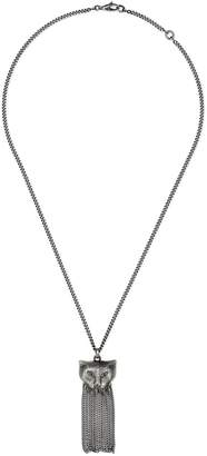 Gucci Garden silver necklace with cat