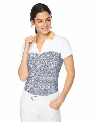 Cutter & Buck Annika by Women's Drytec Moisture Wicking UPF 50+ Cap Sleeve Jersey Polo Shirt