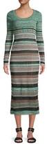 Thumbnail for your product : M Missoni Striped Ribbed Midi Dress