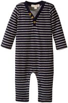 Appaman Houston Henley Romper (Baby) - Dress Blues - 3-6 Months