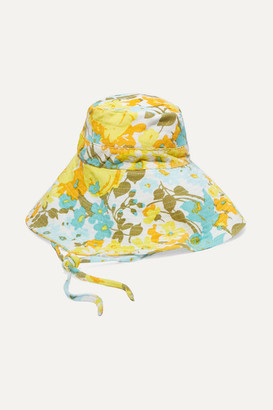 Faithfull The Brand Floral-print Cotton-corduroy Bucket Hat - Blue
