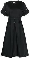 Moncler ruffle-sleeved flared dress