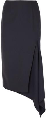 Monse Asymmetric Wool-blend Twill Midi Skirt