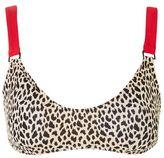 Topshop Leopard bikini crop top