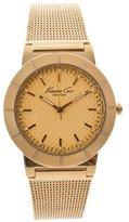 Kenneth Cole New York Women's KC4909 Classic Triple Yellow Gold Mesh Bracelet Watch