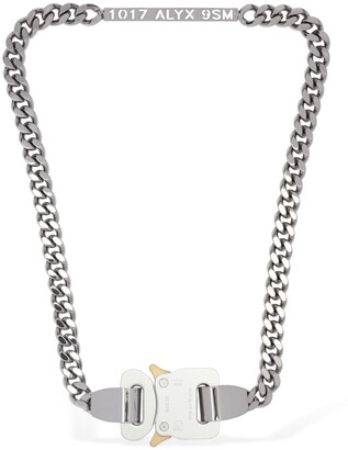 Alyx Logo Plaque Buckle Chain Necklace