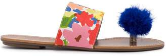 Frances Valentine multicoloured toe post sandals