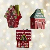 Crate & Barrel Gingerbread House Wood Ornaments
