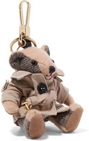 Burberry Checked Cashmere Keychain - Brown