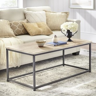 Williston Forge Brookhn Frame Coffee Table with Tray Top