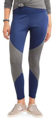 Athletic Works Women's Active Heathered Colorblock Performance Leggings
