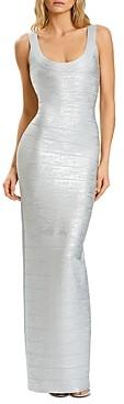 Herve Leger Bandage Shimmer Knit Gown