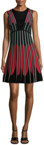 M Missoni Cotton Intarsia Fit And Flare Dress