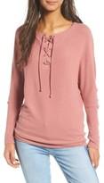Cupcakes And Cashmere Women's Danton Lace-Up Sweatshirt